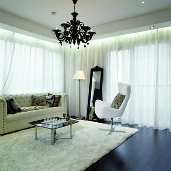 可以看出客厅装修以现代简约装修为基调,中国窗帘十大品牌-客厅窗