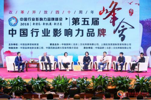 第五届中国行业影响力品牌峰会胜利举办